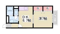 駐車場1台込み☆広々1DKでこの家賃!お手頃です♪ 201の間取