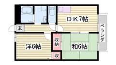 JR播但線 溝口駅徒歩圏内です♪♪ 閑静な住宅街です☆ 201の間取