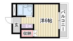 敷金・礼金0円物件♪♪ 東加古川駅近くです☆ コンビニも近く!!  204の間取