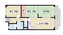 ペット飼育可能です♪猫もOK☆都市ガス仕様☆姫路駅まで徒歩圏内です♪ B-3の間取