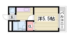 家賃お手頃♪駅近単身マンション☆周辺に商業施設多数あり! 203の間取