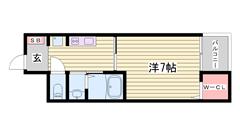 オール電化で追い焚きも付いてます!姫路駅まで徒歩圏内♪見逃せません! 403の間取