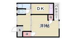 駐車場あり!家賃にご注目♪姫路駅までも徒歩圏内! 203の間取