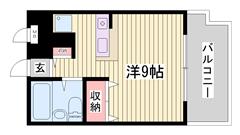 山陽高砂駅徒歩2分!!通勤・通学便利ですよ☆嬉しいエアコン付き♪ 505の間取