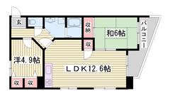 フレッツ光対応マンション☆ゆったり2LDKです♪ファミリーさんオススメ(^O^) 305の間取