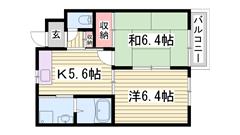 駐車場1台お家賃に込みです!小野駅徒歩圏内です☆ 101の間取