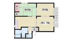 平松駅まで徒歩圏内☆ 駐車場1台込み♪ 小・中学校近く通学安心です 101の間取