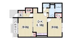 赤穂駅まで徒歩圏内の立地です♪ 築浅物件(^v^) 101の間取