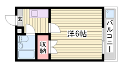 敷金・礼金0円物件☆初期費用も月々もおさえていけます!単身さんオススメ♪ 104の間取