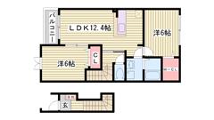 駅まで徒歩7分 敷地内に駐車場完備 大手ハウスメーカー施工 201の間取
