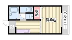 都市ガス仕様で経済的☆ 洗濯機・冷蔵庫付きですよ!! スーパーが近くです♪♪ 101の間取