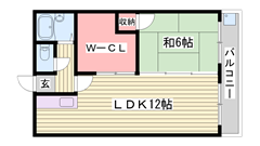 大きな収納スペースがあるので便利ですよ♪♪ 305の間取