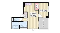 姫路駅まで徒歩圏内!コンビニ・スーパー近くで生活便利!人気の都市ガス♪ 101の間取