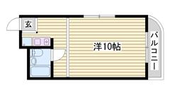 敷金・礼金0円です☆ コンビニ・スーパー近くにありますよ♪♪ 201の間取