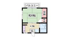 敷金・礼金0円です☆ JR京口駅から徒歩圏内ですよ♪♪ 206の間取