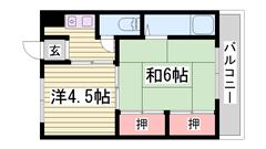 駅徒歩スグ!姫路駅周辺へのアクセス便利!一押しです! 301の間取