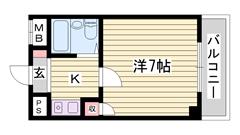 エレベーター完備 IHコンロ新品 姫路駅徒歩圏内で便利です♪ 408の間取