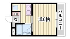 オール電化で家賃お手頃なマンションです!駐車場1台込み!一押しです! 206の間取