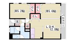 都市で経済的に♪ 安心RC構造で遮音性◎ 姫路駅徒歩圏内です! 206の間取