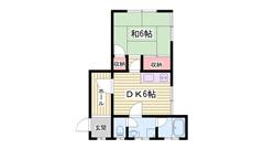 JR曽根駅徒歩スグ!マンションタイプで安心入居!エアコンついてます! 401の間取