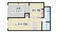 敷金0円物件☆スーパー・コンビニ近くて生活便利♪ペット飼育可能! 1-Bの間取