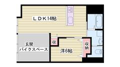 敷金0円物件☆スーパー・コンビニ近くて生活便利♪ペット飼育可能! 1-Aの間取
