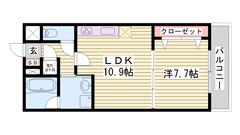 人気のオール電化仕様☆ 姫路駅まで徒歩5分!! 安心のセキュリティシステム♪♪ 403の間取