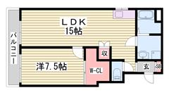 嬉しい都市ガス♪ペット飼育OKの物件!姫路市街へのアクセス便利! 501の間取