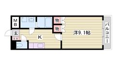 姫路インター・コンビニ近くで便利です! 南向きで日当たり良好! 103の間取
