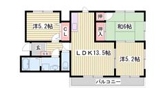 オートロック・防犯カメラ付き☆ 都市ガス仕様物件!! 601の間取