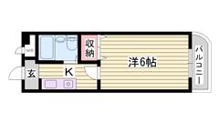照明 冷暖房設備付 安心のオートロック 202の間取