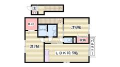 駐車場2台込み家賃☆ 鶴居駅まで徒歩5分 設備充実の築浅物件です 202の間取