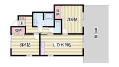 駐車場2台込み家賃☆ 鶴居駅まで徒歩5分 設備充実の築浅物件です 102の間取