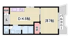 嬉しい都市ガス仕様☆ 姫路駅まで徒歩圏内!! 姫路城が見えますよ♪♪ 401の間取