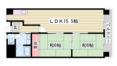 姫路東ランプ・マックスバリュすぐ近く☆ 設備入替えで内装美麗♪  102の間取