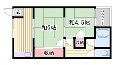 敷金・礼金0円物件☆ 嬉しい都市ガス仕様で経済的ですよ♪♪ 7の間取