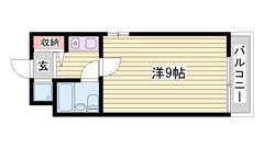 敷金0円☆ オートロック付きで女性も安心☆ JR姫路駅徒歩圏! 704の間取