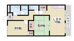 閑静な住宅街でマンションタイプの角部屋です!駐車場2台目ございます! 302の間取