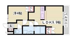 スーパー・コンビニ近くで生活便利☆暮らしやすい環境です(^O^) 201の間取