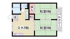 嬉しい駐車場1台込み 生活に便利な立地条件 2DKで家族におすすめ 207の間取