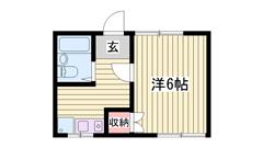 加古川駅まで徒歩圏内!冷蔵庫付いてますよ♪単身さんオススメです! 103の間取