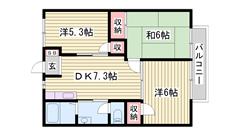 敷金0円物件☆ 西飾磨駅まで徒歩圏内 閑静な住宅街です。 102の間取