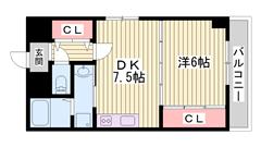 オール電化仕様で経済的☆ペット飼育可能♪猫もOKです 京口駅まで徒歩圏内♪♪ 703の間取