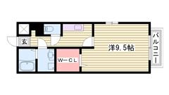 シャンプードレッサー 専用庭 システムキッチン  201の間取