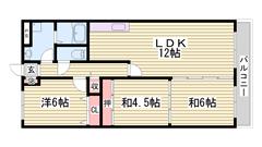 西飾磨駅まで徒歩圏内!初期費用抑えてご入居できます! 103の間取