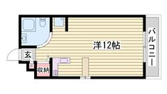 敷金・礼金0円物件☆ 都市ガス使用で経済的!! 単身さんにおすすめ♪♪ 205の間取