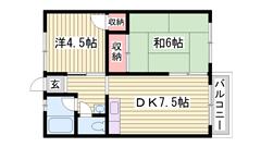 敷金0円 閑静な住宅街で広いスペースの物件です! スーパー徒歩圏内 21の間取