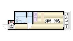 大塩駅徒歩スグ!オートロック・エレベーター付き! 302の間取