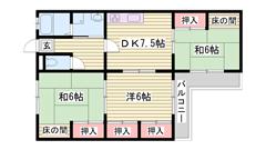 安心鉄筋コンクリートで遮音性◎ 設備充実 香呂駅近く交通便利 206の間取