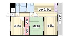 3DKでお手頃なお家賃です♪生活便利なエリアです! 501の間取